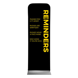 Black Reminders 2 x 6 Sleeve Banner