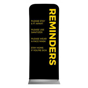 "Black Reminders 2'7"" x 6'7"" Sleeve Banners"