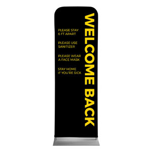 Jet Black Welcome Guidelines 2 x 6 Sleeve Banner