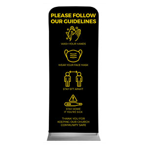 "Black Guidelines 2'7"" x 6'7"" Sleeve Banners"