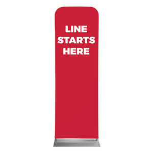 Red Line Starts Here 2 x 6 Sleeve Banner