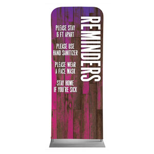 "Colorful Wood Reminders 2'7"" x 6'7"" Sleeve Banners"