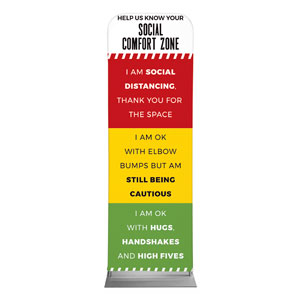 Social Comfort Zone Multicolor 2 x 6 Sleeve Banner