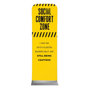 Social Comfort Zone Yellow 2 x 6 Sleeve Banner