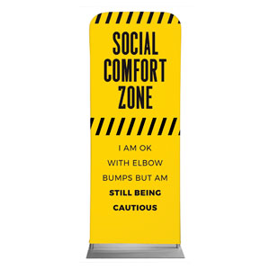 "Social Comfort Zone Yellow 2'7"" x 6'7"" Sleeve Banners"