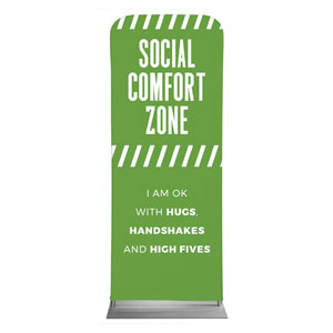 "Social Comfort Zone Green 2'7"" x 6'7"" Sleeve Banners"