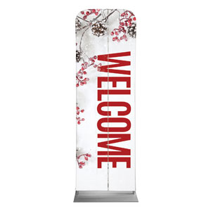 Celebrate Christmas Berries Welcome 2 x 6 Sleeve Banner