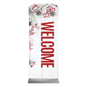 "Celebrate Christmas Berries Welcome 2'7"" x 6'7"" Sleeve Banners"
