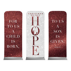 Christmas Brings Hope Sparkle Triptych