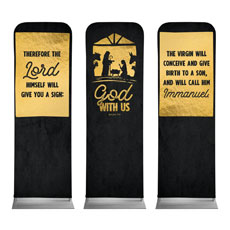 God With Us Gold Triptych