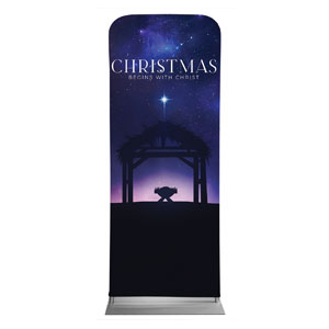 "Begins With Christ Manger 2'7"" x 6'7"" Sleeve Banners"