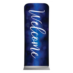 "Celebrate Christmas Blue Sparkle Welcome 2'7"" x 6'7"" Sleeve Banners"