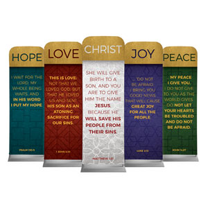 Celebrate The Season Advent Set 2 x 6 Sleeve Banner