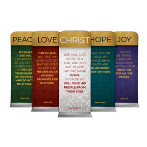 "Celebrate The Season Advent Set 2'7"" x 6'7"" Sleeve Banners"
