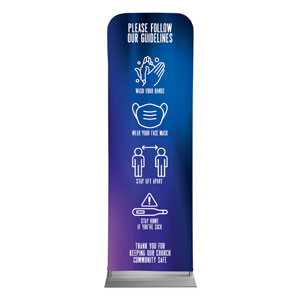 Aurora Lights Guidelines 2 x 6 Sleeve Banner
