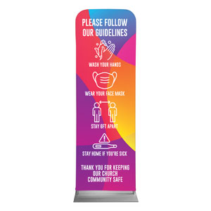 Curved Colors Guidelines 2 x 6 Sleeve Banner
