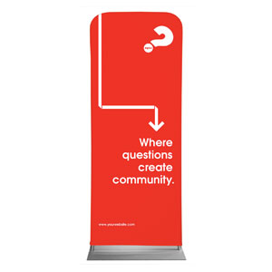 "Alpha Arrow Create Community Red 2'7"" x 6'7"" Sleeve Banners"