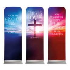 Love Easter Colors Triptych
