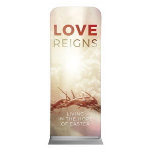 "Love Reigns 2'7"" x 6'7"" Sleeve Banners"