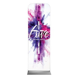 Love Never Fails 2 x 6 Sleeve Banner