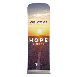 BTCS Hope Is Here Welcome 2 x 6 Sleeve Banner