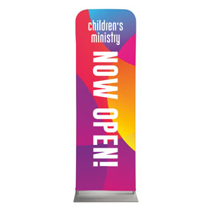 Curved Colors Children's Ministry 2 x 6 Sleeve Banner