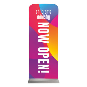 "Curved Colors Children's Ministry 2'7"" x 6'7"" Sleeve Banners"