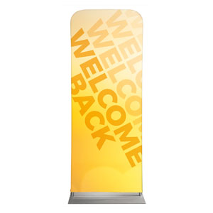 "Welcome Back Yellow 2'7"" x 6'7"" Sleeve Banners"