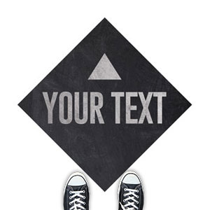 Slate Your Text Floor Stickers