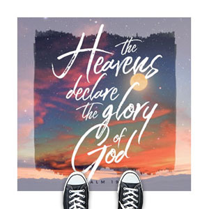Beautiful Praise Heavens Declare Floor Stickers