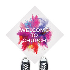 Color Burst Welcome Church