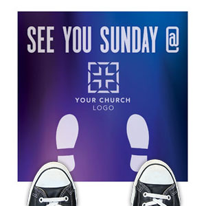 Aurora Lights See You Sunday Floor Stickers