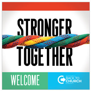 BTCS Stronger Together Welcome Floor Stickers