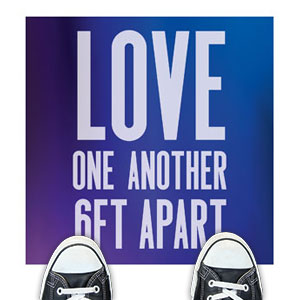 Aurora Lights Love One Another Floor Stickers
