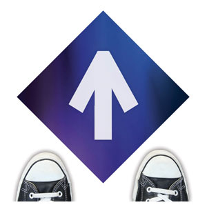 Aurora Lights Arrow Floor Stickers