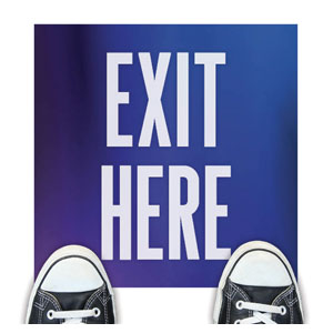 Aurora Lights Exit Here Floor Stickers