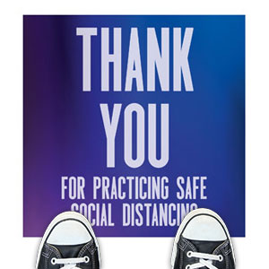 Aurora Lights Safe Distancing Floor Stickers