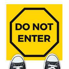Yellow Do Not Enter
