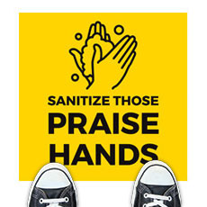 Yellow Praise Hands