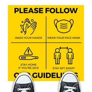 Yellow Guidelines Floor Stickers