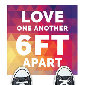 Geometric Bold Love One Another Floor Stickers