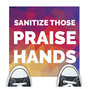 Geometric Bold Praise Hands Floor Stickers