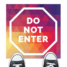 Geometric Bold Do Not Enter