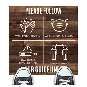 Walnut Guidelines Floor Stickers