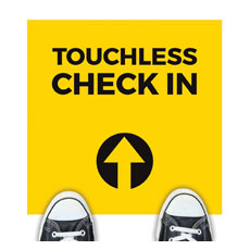 Yellow Touchless Check In