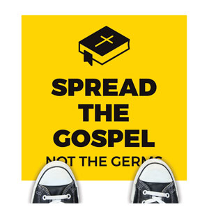 Yellow Spread the Gospel Floor Stickers