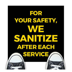 Jet Black We Sanitize