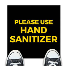 Jet Black Use Hand Sanitizer