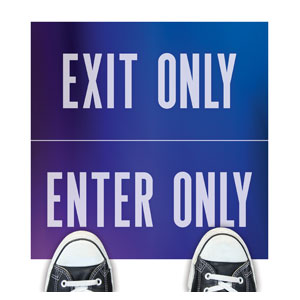 Aurora Lights Enter Exit Floor Stickers