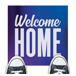 Aurora Lights Welcome Home Floor Stickers